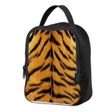 Tiger Fur Print Neoprene Lunch Bag