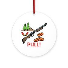 Skeet Pull Ornament (Round)