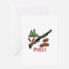 Skeet Pull Greeting Cards