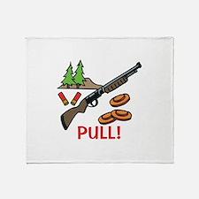 Skeet Pull Throw Blanket