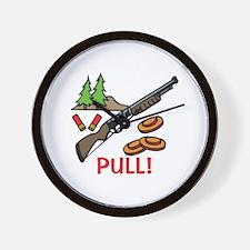 Skeet Pull Wall Clock