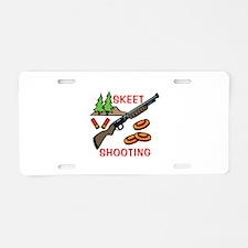 Skeet Shooting Aluminum License Plate