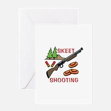 Skeet Shooting Greeting Cards