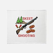 Skeet Shooting Throw Blanket