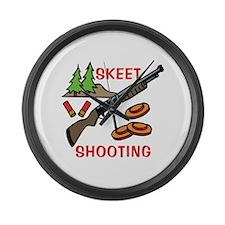 Skeet Shooting Large Wall Clock