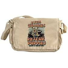 Even Zombies Rescue Puppies Messenger Bag
