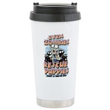 Even Zombies Rescue Pup Travel Coffee Mug