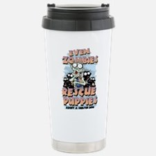 Even Zombies Rescue Pup Travel Mug