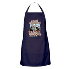 Even Zombies Rescue Puppies Apron (dark)