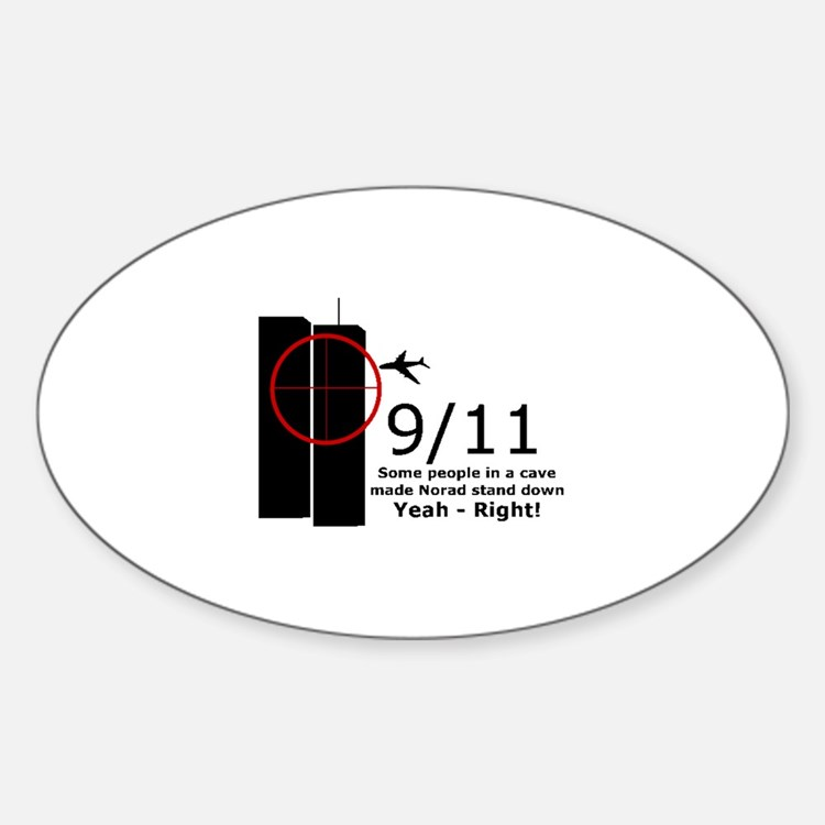 9/11 cover up Oval Decal