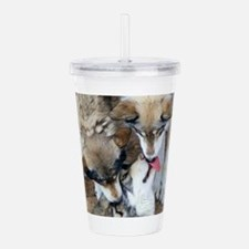 Unique Wolves Acrylic Double-wall Tumbler