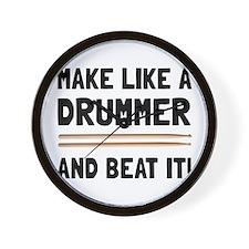 Drummer Beat It Wall Clock