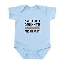 Drummer Beat It Body Suit
