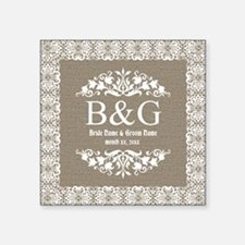 Personalize Bride And Groom Monogrammed Gift Stick