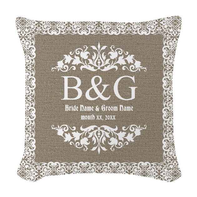 Personalize Bride And Groom Monogrammed Gift Woven By Giftcy