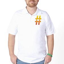 Vibrant Hashtag Heart T-Shirt