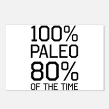 100% paleo 80% of the time Postcards (Package of 8