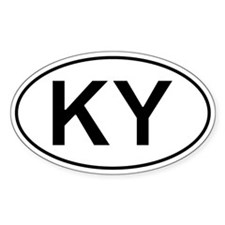 Ky - Kentucky Oval Car Decal