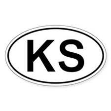 Ks - Kansas Oval Car Decal