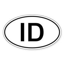 Id - Idaho Oval Car Decal