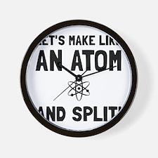 Like An Atom Split Wall Clock