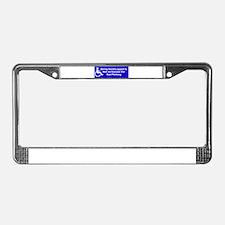 Unique Handicapped License Plate Frame
