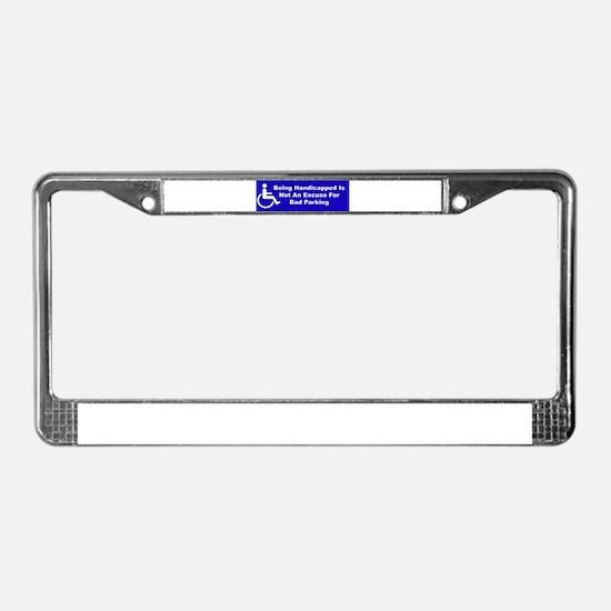 Cute Handicap License Plate Frame