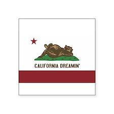 """Unique Republic of california Square Sticker 3"""" x 3"""""""