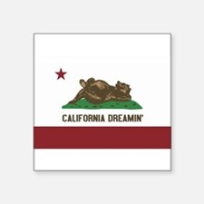 "Cute California dreamin Square Sticker 3"" x 3"""