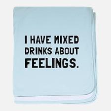 Mixed Drinks Feelings baby blanket