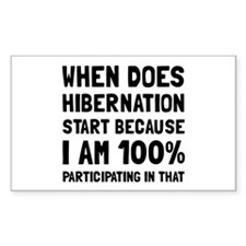 Participating In Hibernation Decal