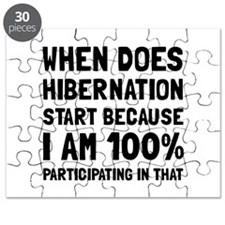 Participating In Hibernation Puzzle
