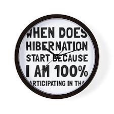 Participating In Hibernation Wall Clock