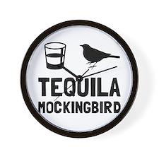 Tequila Mockingbird Wall Clock