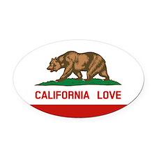 Cute California flag Oval Car Magnet