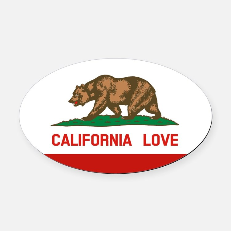 Cute California love Oval Car Magnet