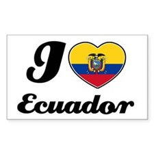 I love Ecuador Rectangle Decal