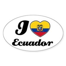 I love Ecuador Oval Decal