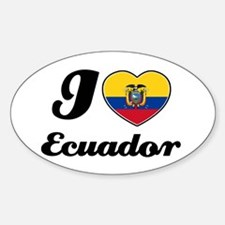 I love Ecuador Oval Decal