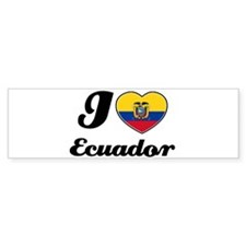 I love Ecuador Bumper Bumper Sticker