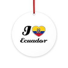 I love Ecuador Ornament (Round)