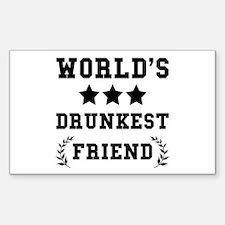 Worlds Drunkest Friend Decal