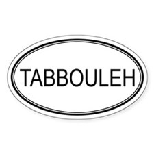 TABBOULEH (oval) Oval Decal