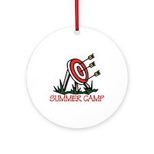 Summer Camp Ornament (Round)