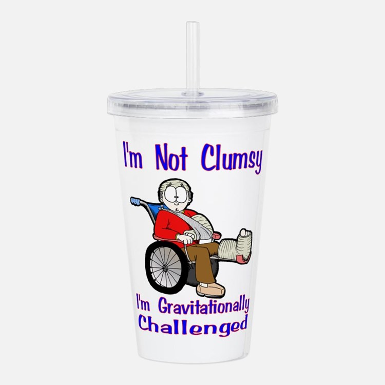 Im Not Clumsy Acrylic Double-Wall Tumbler