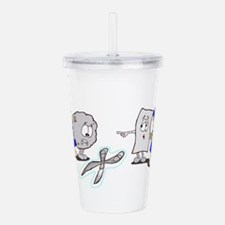 Paper Rock Scissors Acrylic Double-wall Tumbler