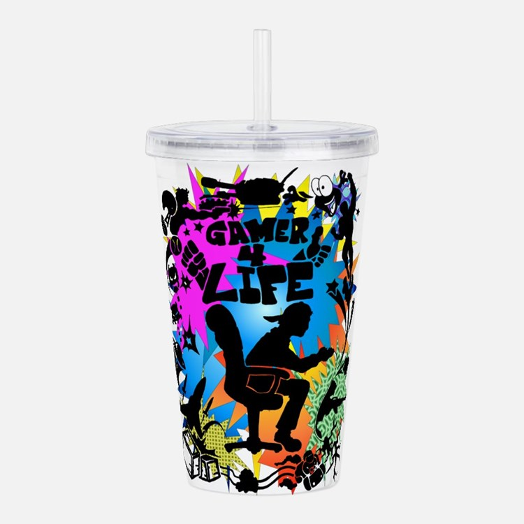 gamer4life.png Acrylic Double-wall Tumbler