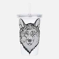 Peaceful Wolf Acrylic Double-wall Tumbler