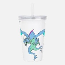 BLUE.png Acrylic Double-wall Tumbler