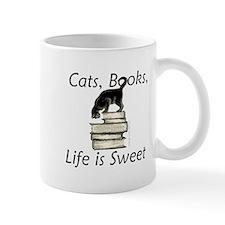 3-cat_life_sweet_large Mugs